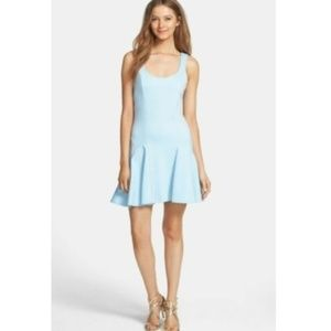 Bardot Queenie Flip Hem Dress Fit & Flare Blue